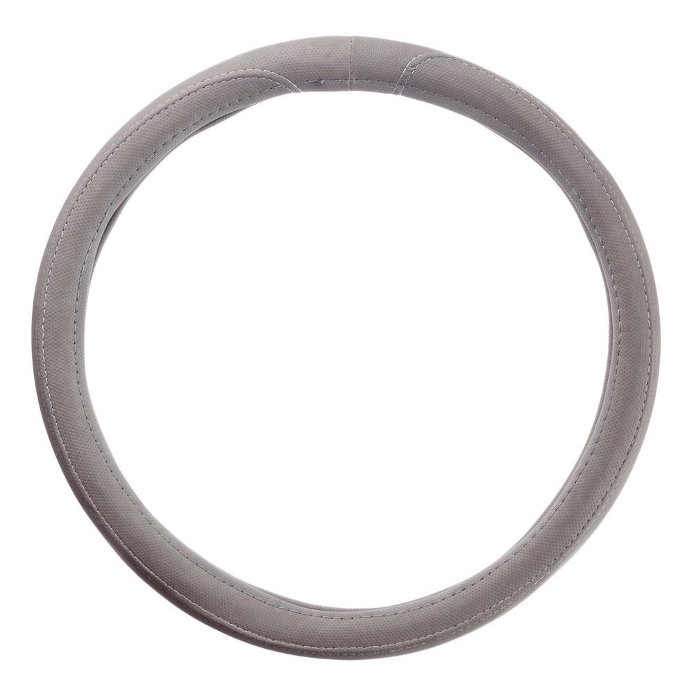 NEW GALAXY Оплетка руля, экокожа, перфорированная, серый, разм. (М)
