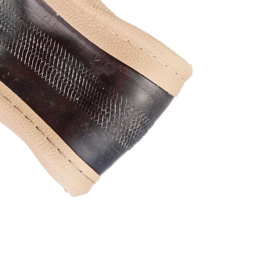 NEW GALAXY Оплетка руля, кожа PU, бежевый, разм. (М)