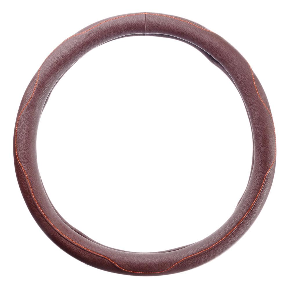 NEW GALAXY Оплетка руля, кожа PU, шоколад, разм. (М)