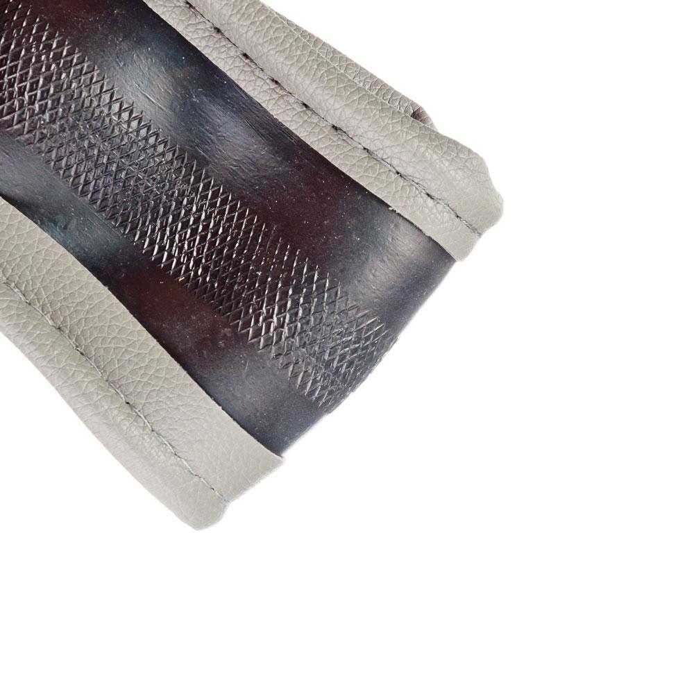 NEW GALAXY Оплетка руля, кожа PU + вставка, рельеф, серый, разм. (М)