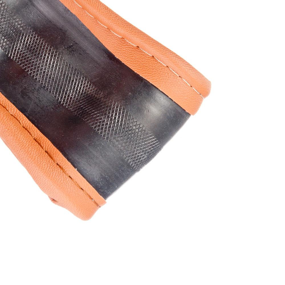 NEW GALAXY Оплетка руля, кожа PU + вставка, рельеф, коричневый, разм. (М)