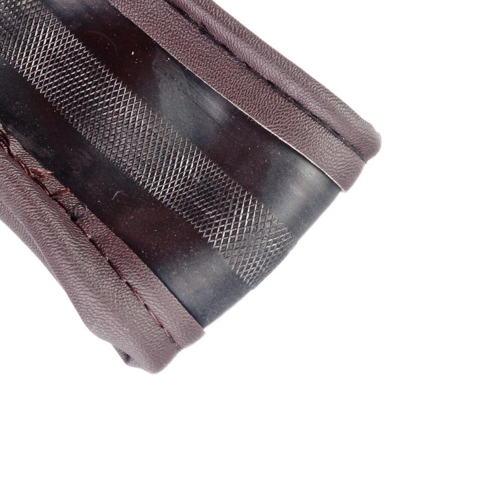 NEW GALAXY Оплетка руля, кожа PU + вставка, рельеф, шоколад, разм. (М)