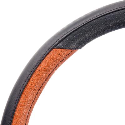NEW GALAXY Оплетка руля экокожа, черный/коричневый, разм. (М)