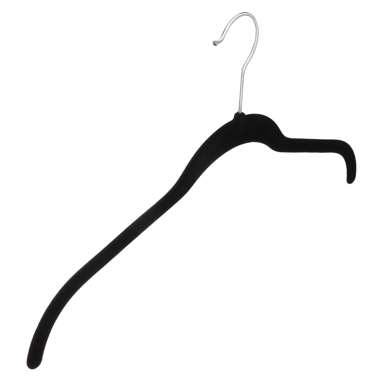 Набор вешалок для одежды 2шт, 42см, без перекладины, с покрытием флок
