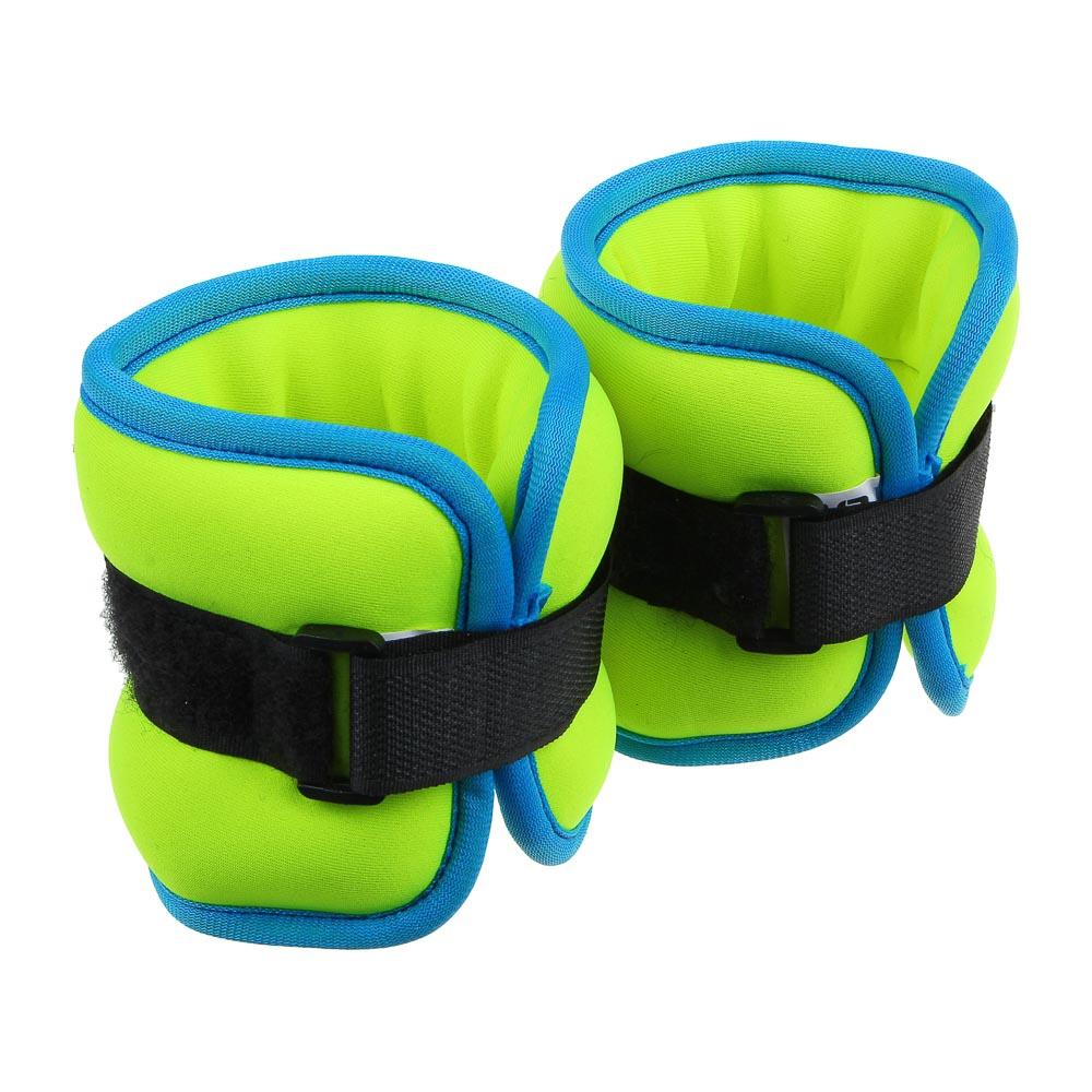 Набор утяжелителей для рук и ног текстильный, вес 0,5 кг, 2 штх0,25 кг, SILAPRO
