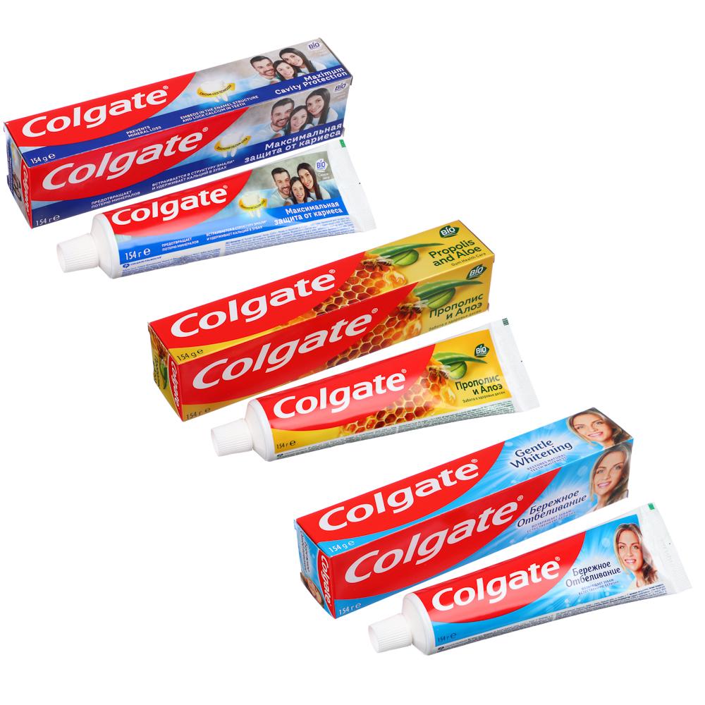 Зубная паста COLGATE , 4 вида, 100мл,арт.188189276/188189281