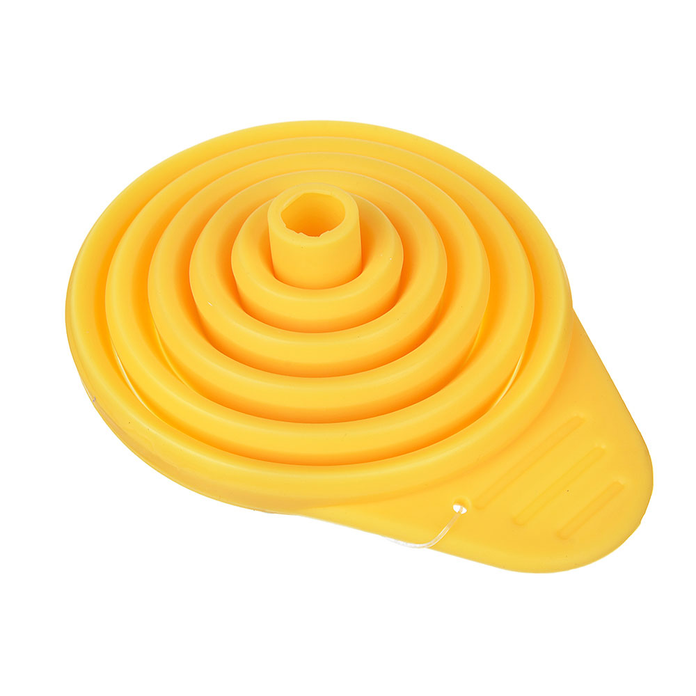 Воронка складная силиконовая, 11х8,5х11 см, 3 цвета