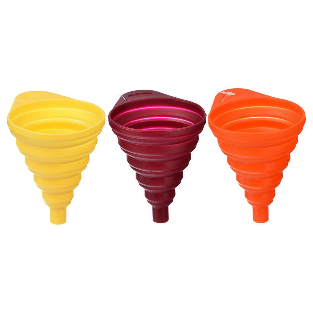 Воронка складная силиконовая, 11х8,5х11см, 3 цвета