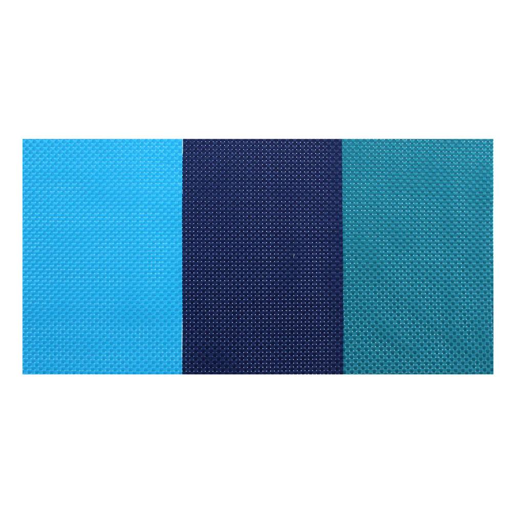 Салфетка сервировочная, крупноплетеный ПВХ, 30x45см, синие оттенки, 3 цвета