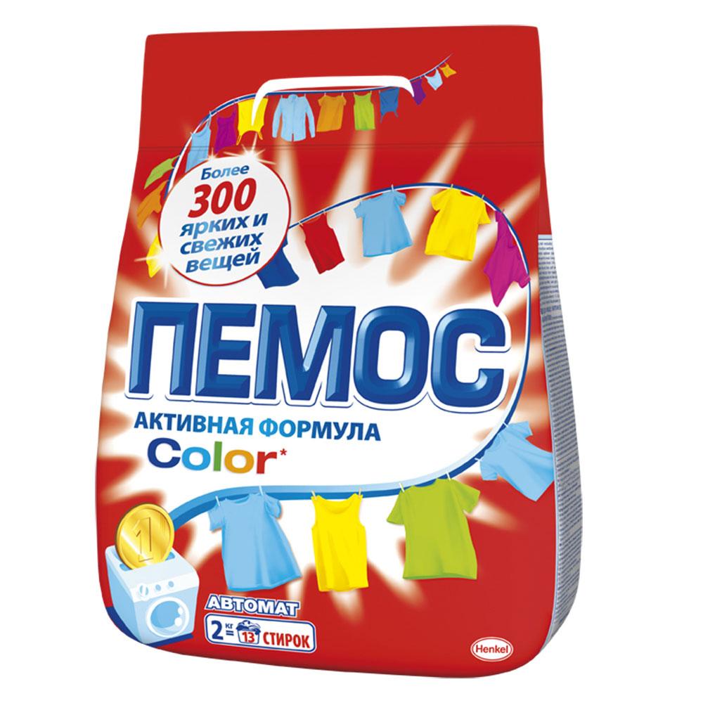 Стиральный порошок ПЕМОС Колор 2кг для цветного белья, арт.IDH2080109/2232830