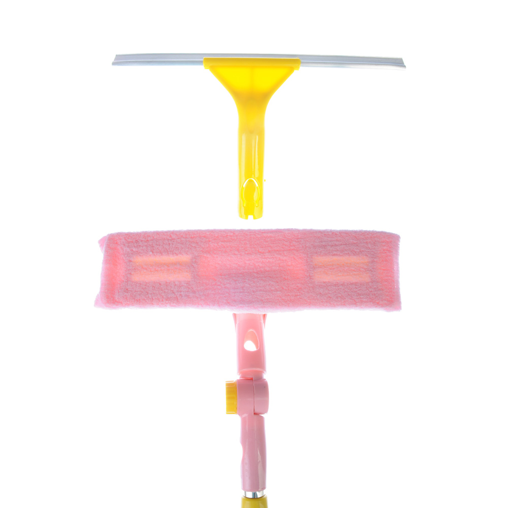 VETTA Окномойка со съемным скребком доп.насадка из микроф. 29см., телескоп.черенок 130см нерж.сталь