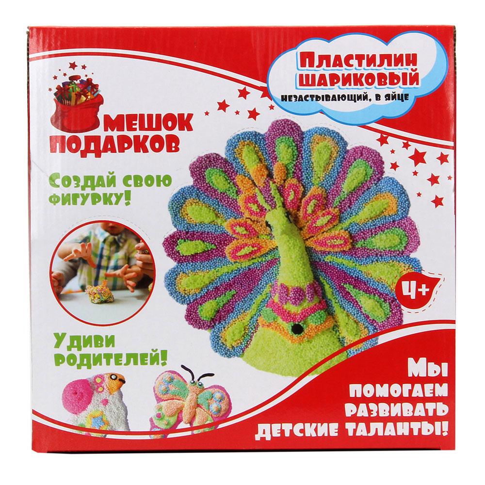 Пластилин шариковый незастывающий, в яйце, 8г, 9х6х6см, 4+, 8 цветов