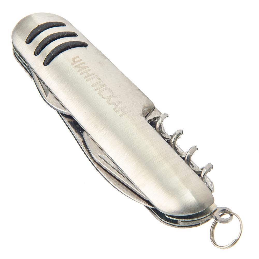 ЧИНГИСХАН Нож перочинный с 5 в 1 ручка металл, 9х2,7х1,3см