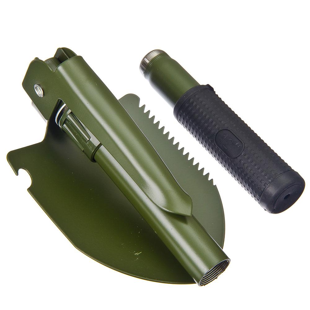 ЧИНГИСХАН Лопата с киркой туристическая складная, в чехле металл/пластик/резина, 42х11х3см