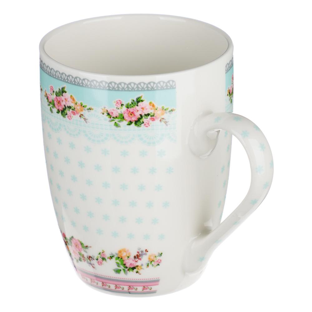 """Кружка фарфоровая 350 мл, 4 цвета, """"Нежная-2"""""""
