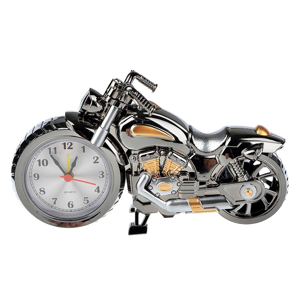 Часы настольные, в виде мотоцикла, пластик, 26,5х12 см, 1хАА