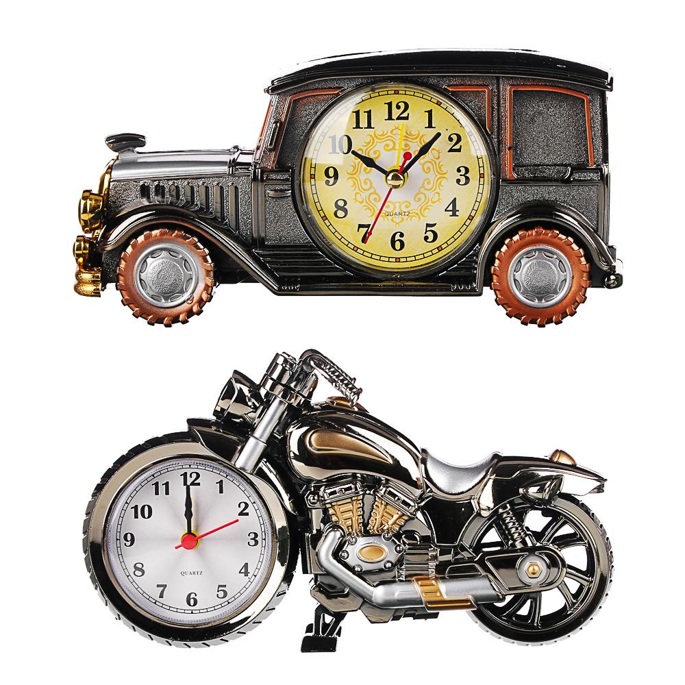 Часы настольные, в виде автомобиля, пластик, 19х9х7,5 см, 1хАА