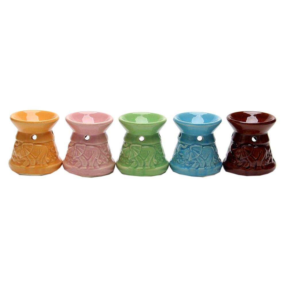Аромалампа, керамика, 6,7х6х6см, 5-6 цветов, арт.1608-14
