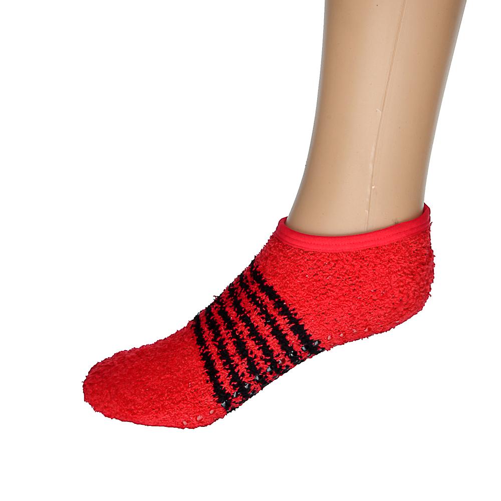 """Носки-тапочки """"Антизанос"""" женские, единый р-р, 100% полиэстер, цветные"""