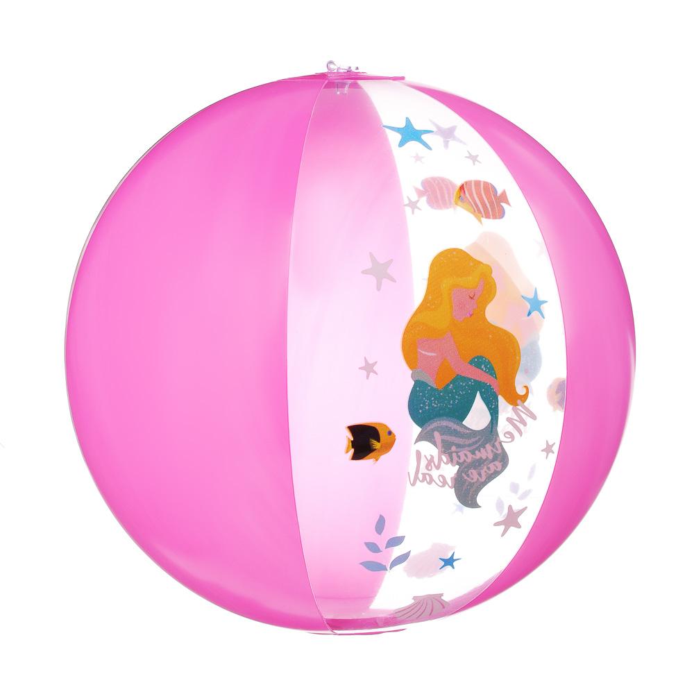 """Мяч пляжный надувной, 38 см, ПВХ, SILAPRO """"Морской мир"""""""