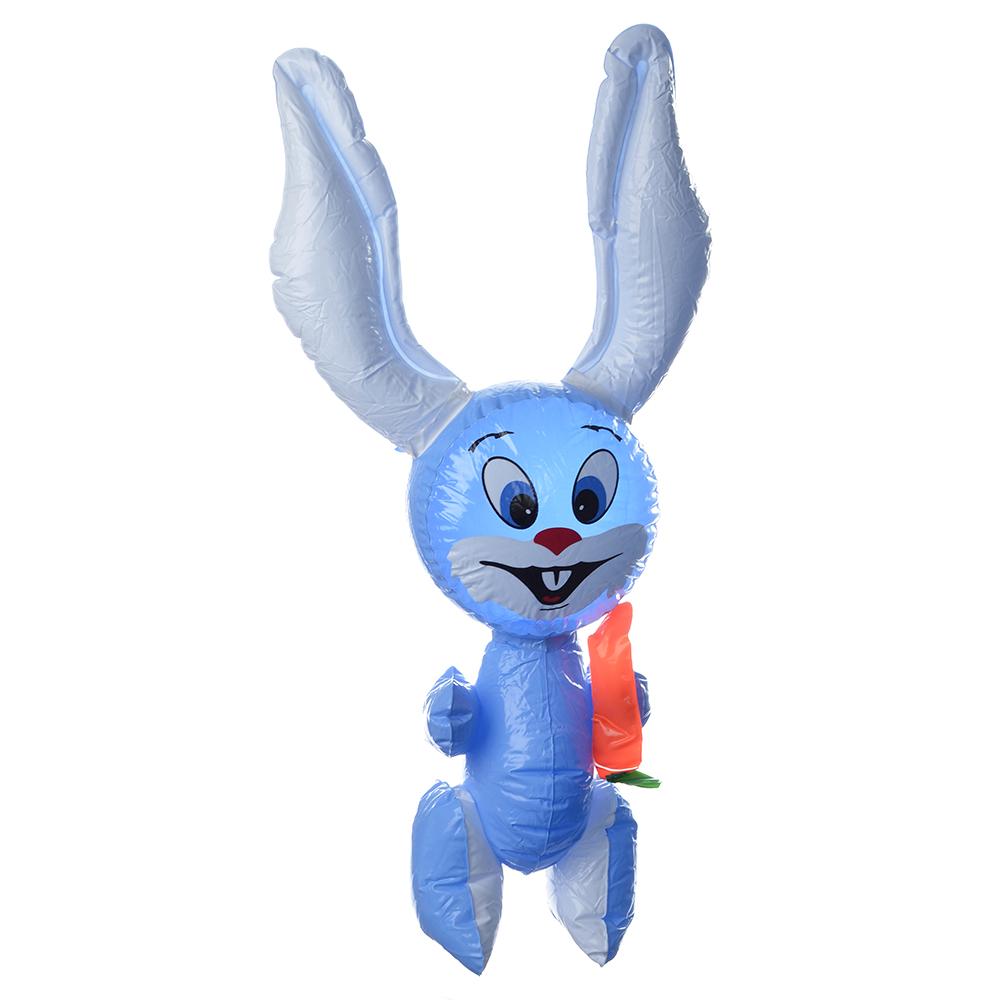 "Игрушка надувная, ПВХ, 64 см, 4 цвета, SILAPRO ""Заяц"""