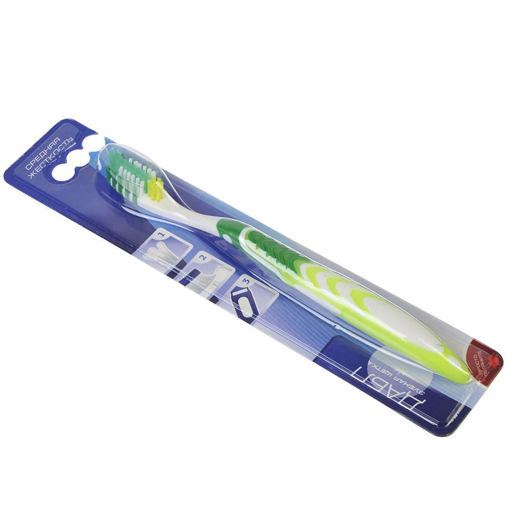 Зубная щетка Эстет, пластик, резина,  мягкая жесткость, индекс 3, степень G<6