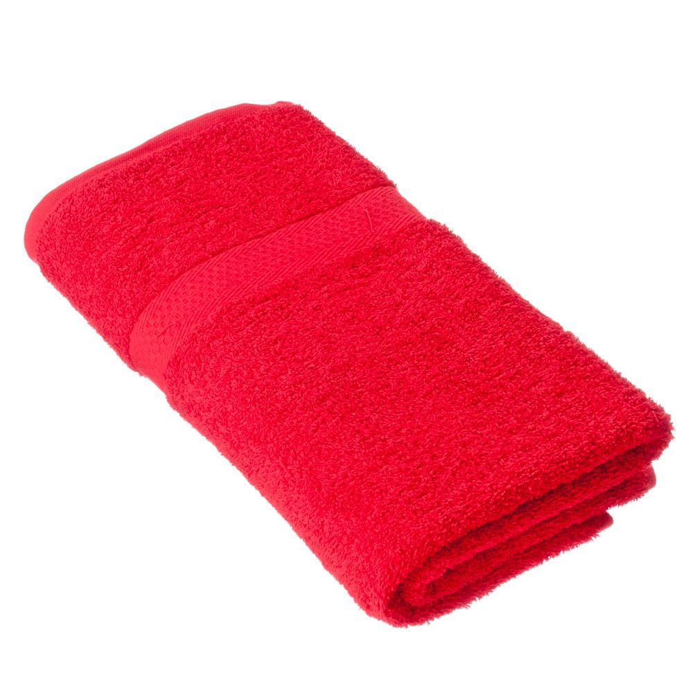 "Spany Home Полотенце махровое, 100% хлопок, 70х130см, ""Grace"", красный, ПГ-08522"