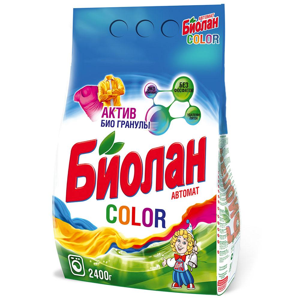Стиральный порошок Биолан для цветного автомат п/у 2400г арт.744-4
