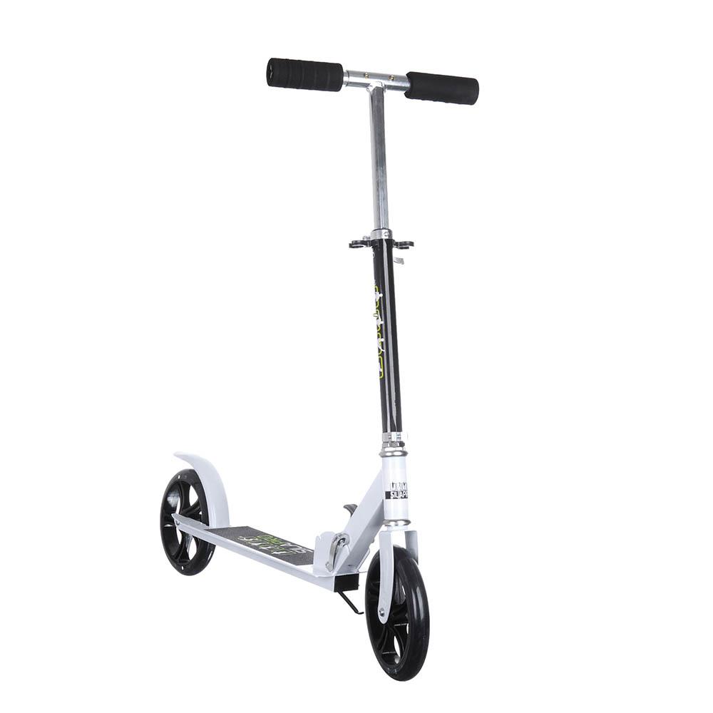 Самокат 2-х колесный, колеса PU, d 20 см, алюминий, металл, до 90 кг, 87х10х110 см, SILAPRO, КМ-896