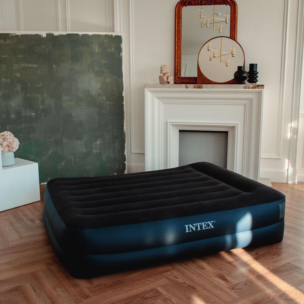 Матрас надувной INTEX Квин 152х203х42см, встроенный электронасос, 64124