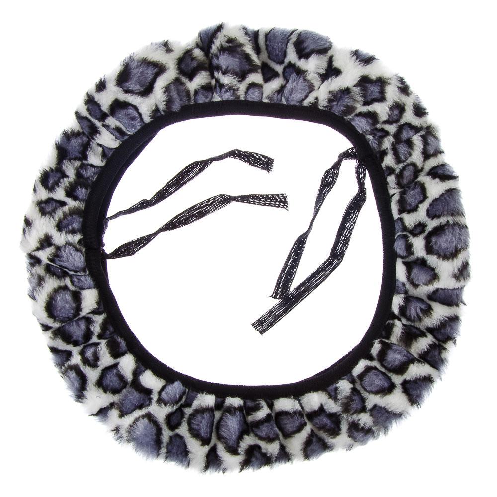 """Оплетка меховая теплая из синт.шерсти """"микровул"""", размер М, цвет черный"""