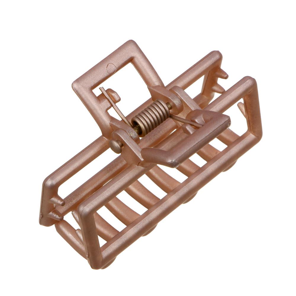 Заколка-краб для волос, металл, пластик, 5 см, 6 цветов
