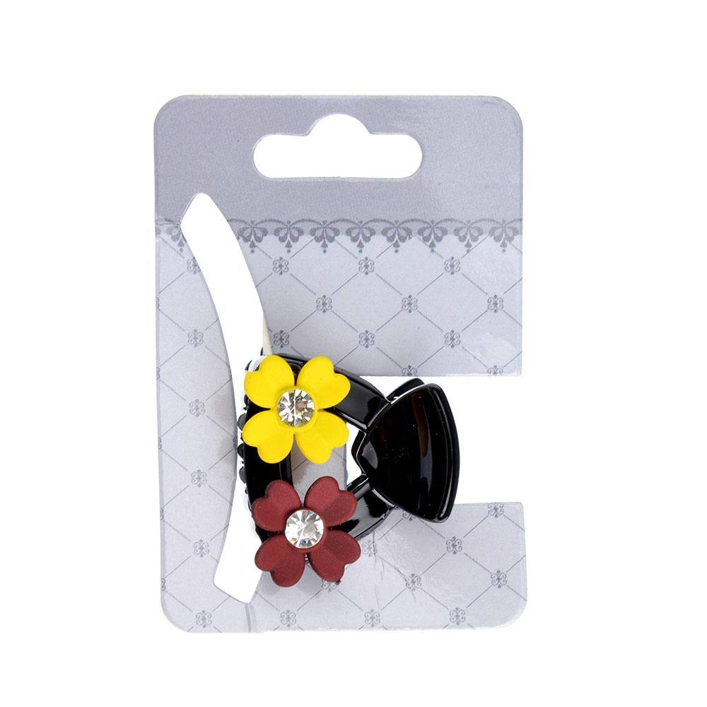 Заколка-краб для волос, металл, пластик, 3 см, 4 дизайна