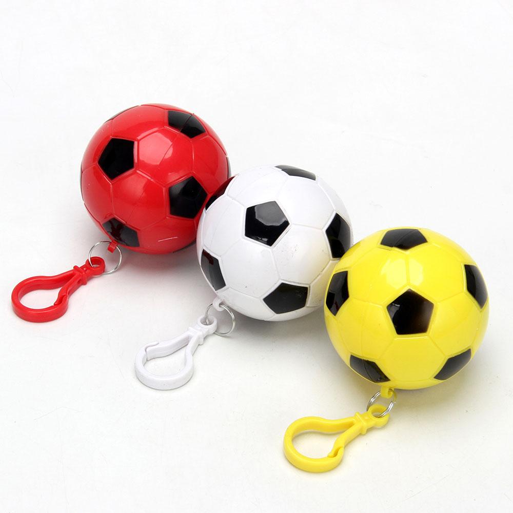 Дождевик-плащ в футляре футбольный мяч, полиэтилен, 10 мкр., 120x90 см, INBLOOM