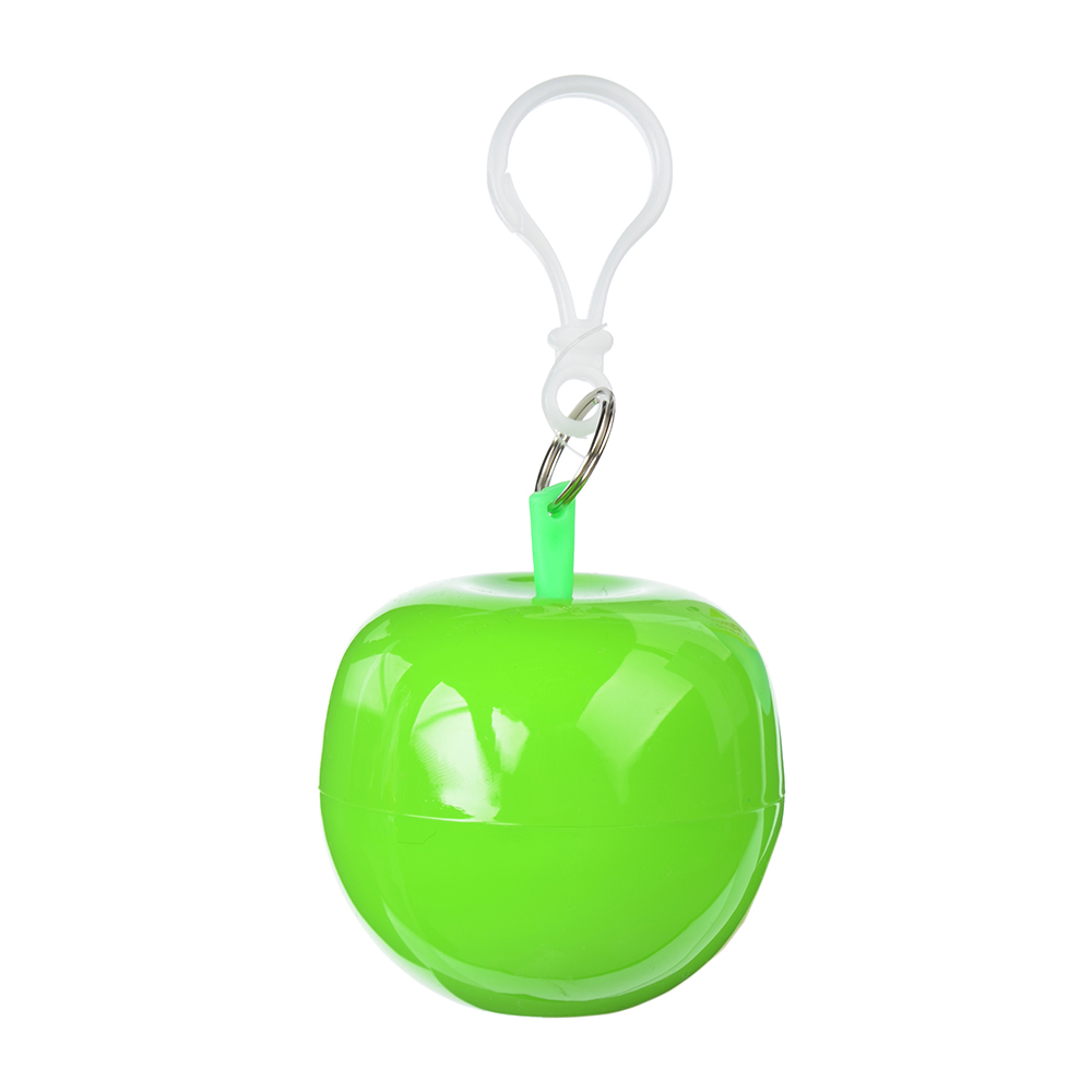 Дождевик-плащ в футляре яблоко, полиэтилен, 10 мкр., 120x90 см, INBLOOM