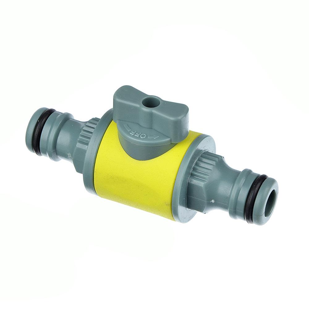 Соединитель штуцерный с вентилем, пластик, 8.5x4x3 см, 9х4,5х3, INBLOOM