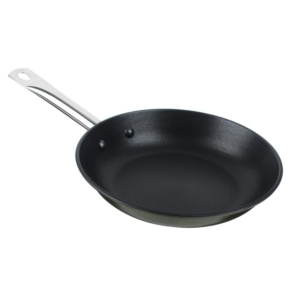 Сковорода чугунная, антипригарное покрытие, 24 см,  ATOSHI