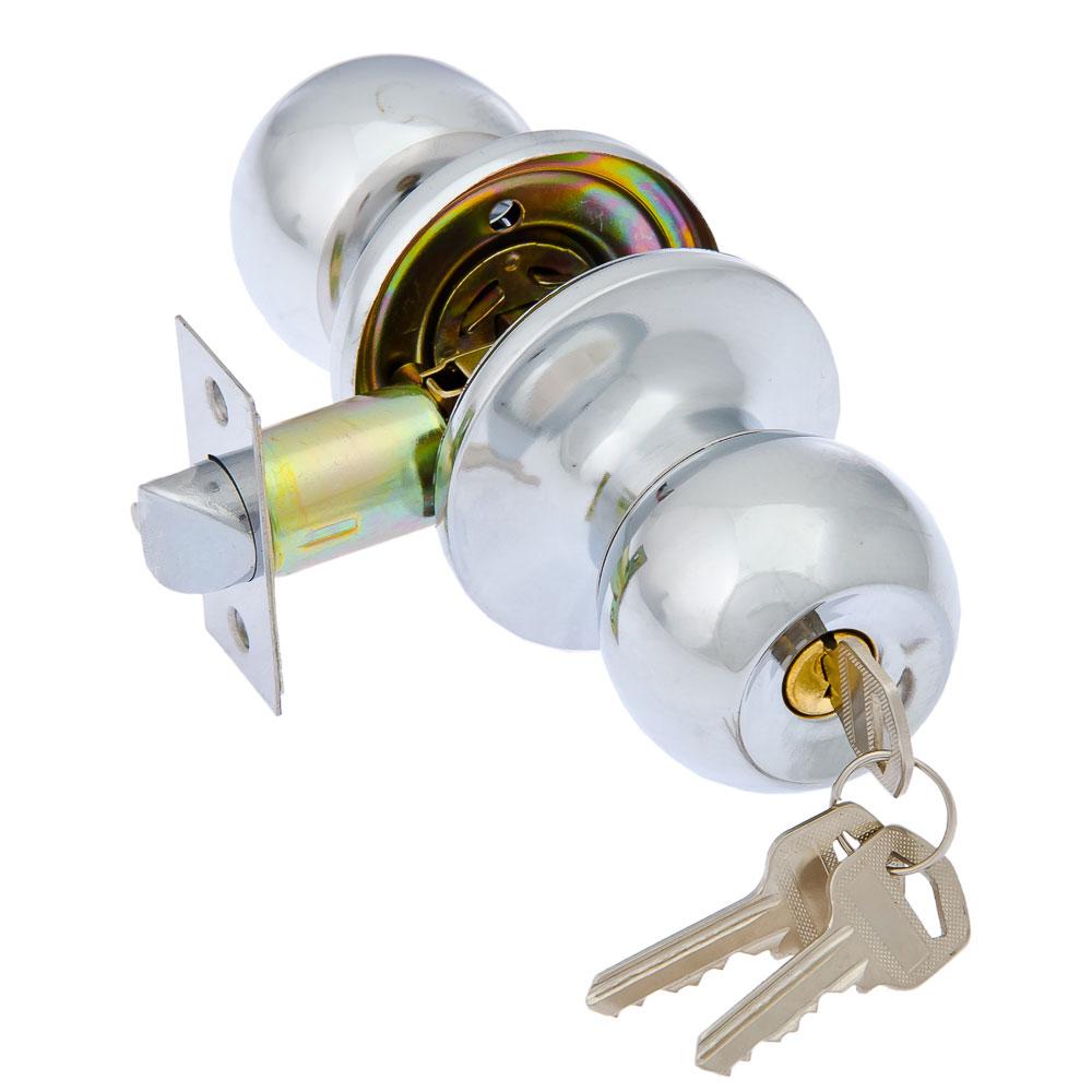 LARS Замок 6072-01 хром с ключом