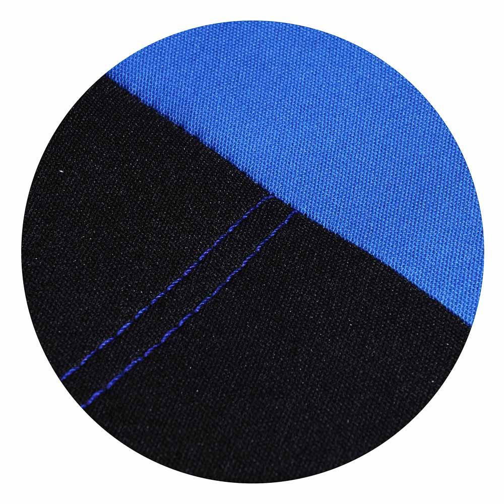 NEW GALAXY Авточехлы 9 пр., полиэстер, Гамма, 3 молн. в спинке, 3 молн. в сидении, черный/синий