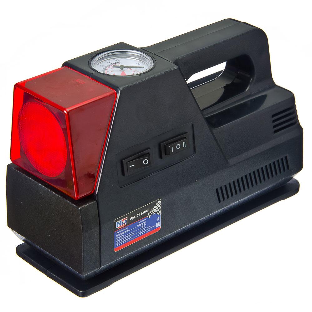NEW GALAXY Компрессор автомобильный Классик, 65Вт, фонарь, 15л/мин, провод 3м + переходники