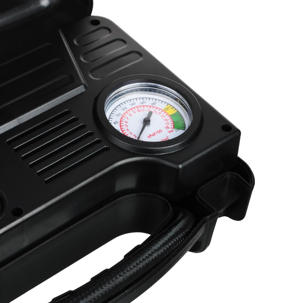 NEW GALAXY Компрессор автомобильный Кейс, 120Вт, 12л/мин, провод 3м + переходники