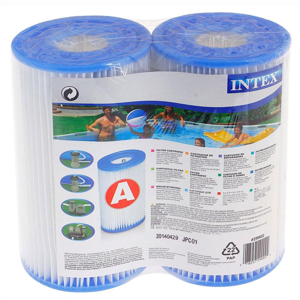 Катриджи типа a для бассейна 2 шт. INTEX 29002 11х20 см