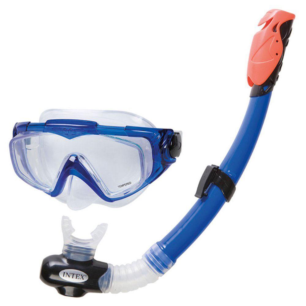 Набор для плавания, силиконовый, 55980, 55923, возраст от 8 лет, INTEX Авиатор про, 55962