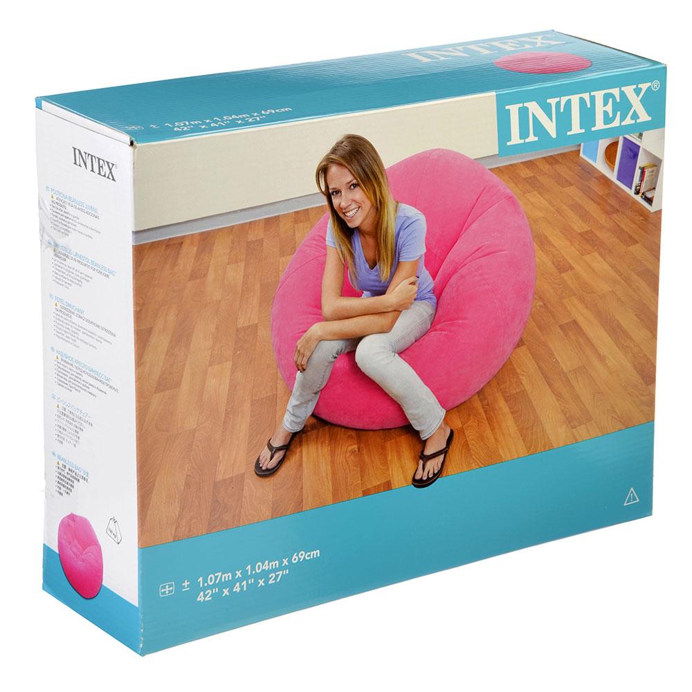 Надувное кресло для дома INTEX 68569 107х104х69 см в 3 цветах