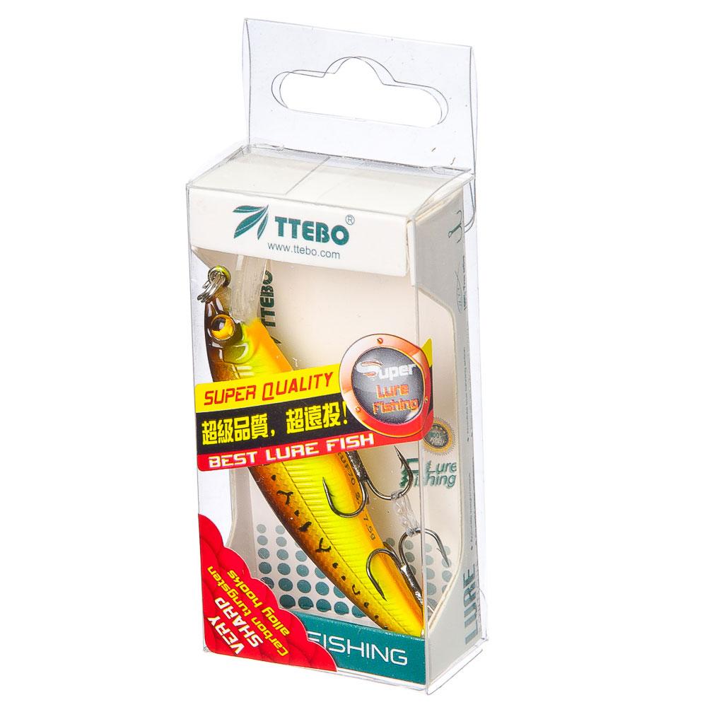 TTEBO ВоблерM-RUF 70,тип«Миноу»,70mm,7g,0,5-1m нейтрал.плавучесть(6 цв:079,053,090,089,180,201микс)