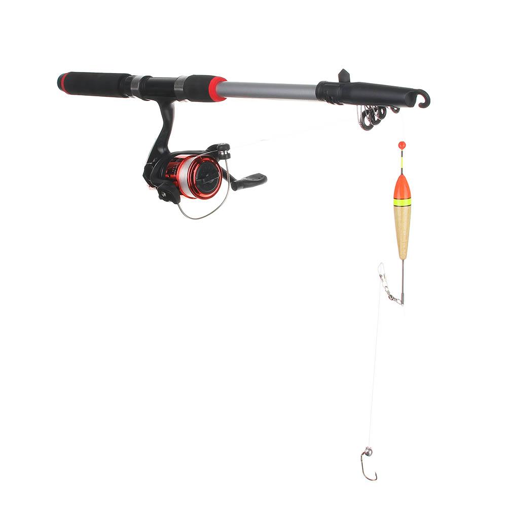 AZOR FISHING Набор: Удочка телескоп., карбон,1,8м, тест 10-30 гр., катушка, леска, грузила, бусины