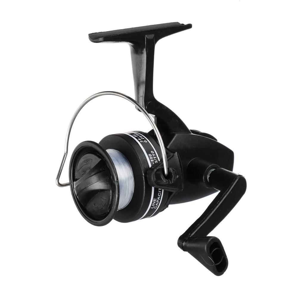 AZOR FISHING Набор: Удочка телескоп., карбон, 1,6м, тест 10-30гр., катушка 1 п.п, леска, поплавок
