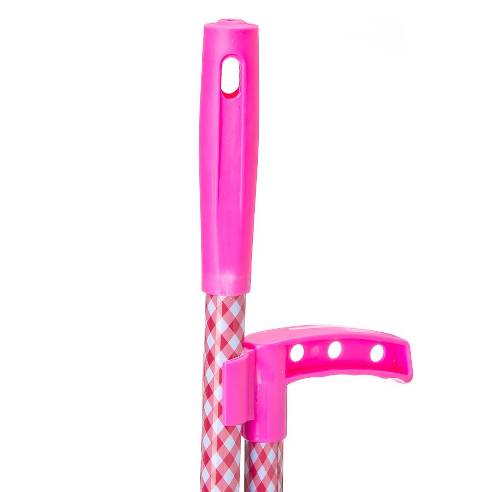 """Набор для уборки: щётка с ручкой, совок, полипропилен, VETTA """"Красная клетка"""", GC Design"""