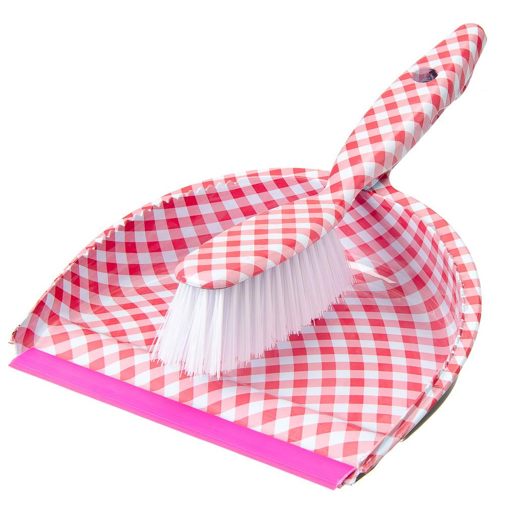 """Набор для уборки: совок, щетка, полипропилен, VETTA """"Красная клетка"""", GC Design"""