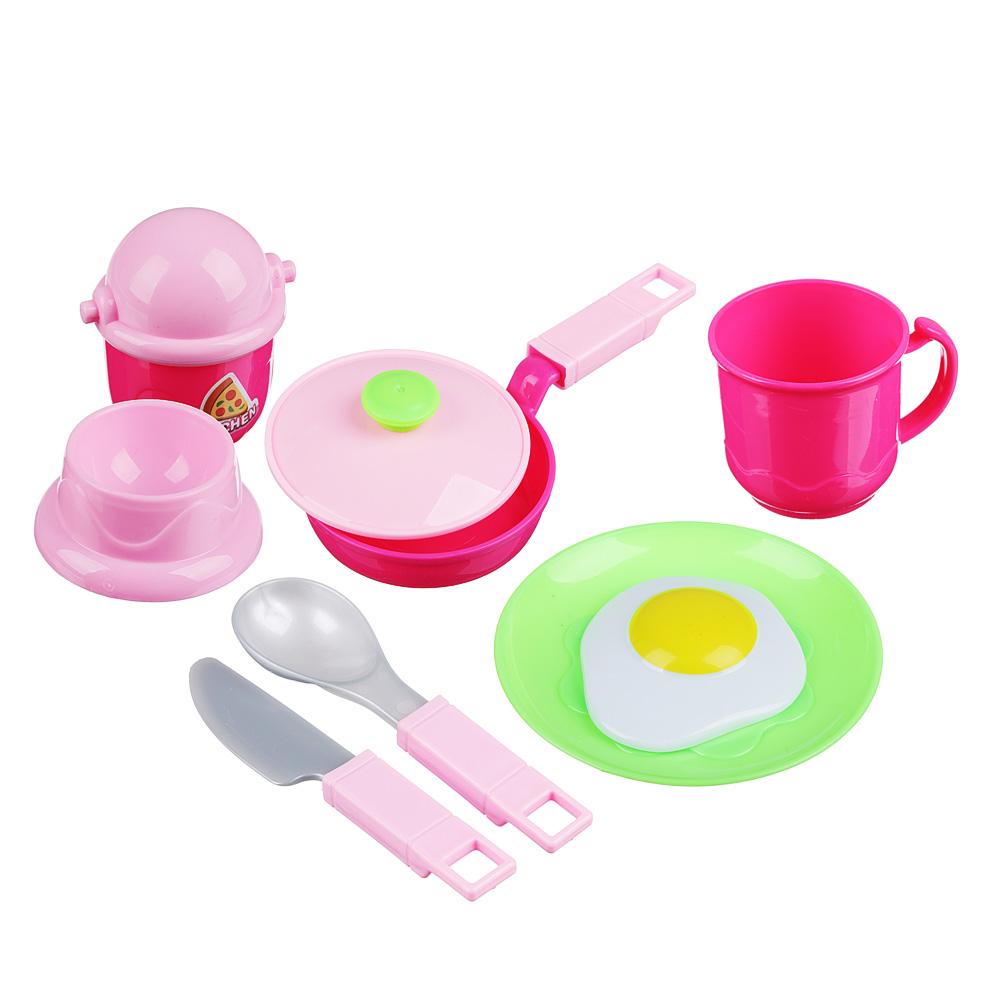 ИГРОЛЕНД Набор детской посуды, пластик, 32х24х4см, 4 дизайна, WD-H47/53